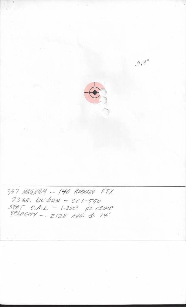 357 Magnum, 357 Maximum Load Development Results | Match