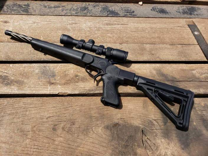 44 reminton suppressed short barrel rifle