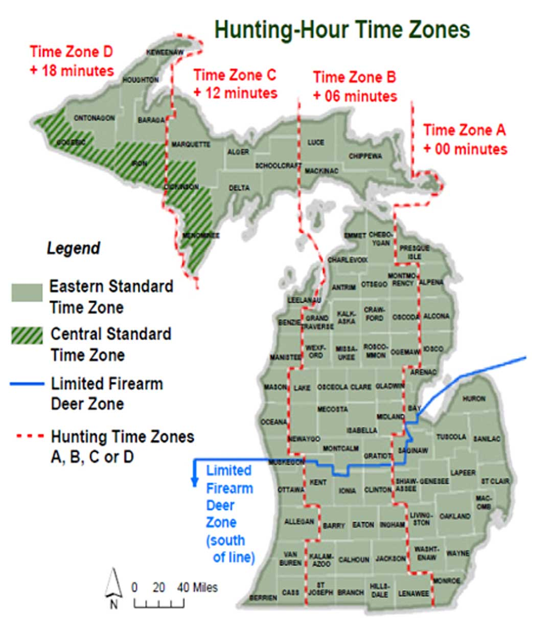 michigan hunting laws hunting hour time zone